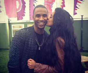 couple, kiss, and trey songz image