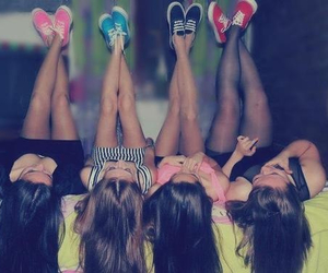 girl, friends, and vans image