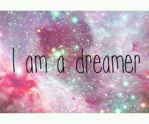 Dream, dreamer, and galaxy image