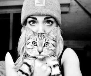 black and white, cats, and eyes image