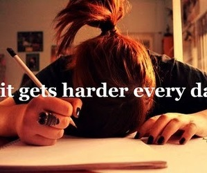 school and hard image