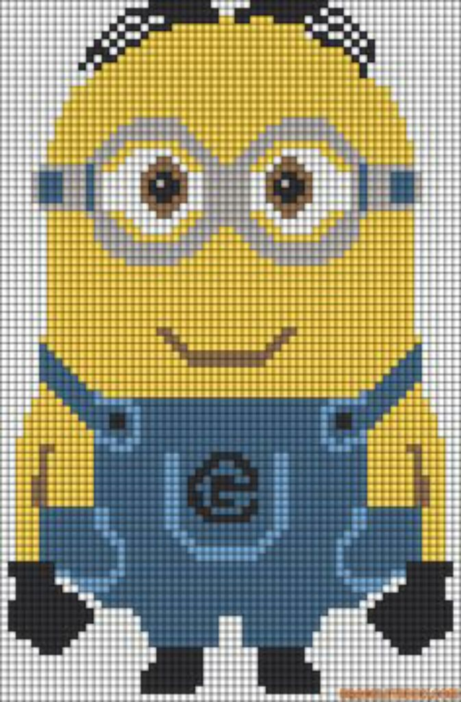 Minion Pixel Art Uploaded By Kyle Pritchard On We Heart It