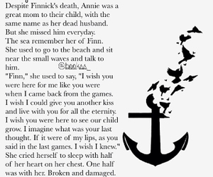 sad, hunger games, and finnick odair image