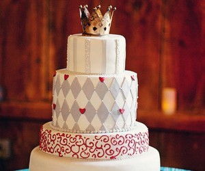 alice in wonderland, cake, and food image