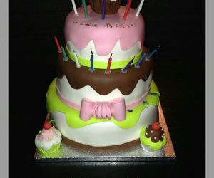 birthday, cake, and cooking image