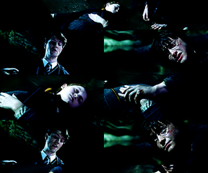 chamber of secrets, ginny weasley, and harry potter image