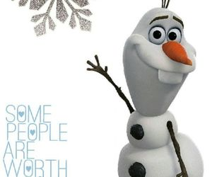 frozen, olaf, and snowflake image