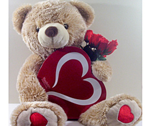 heart, teddy bear, and valentines day image