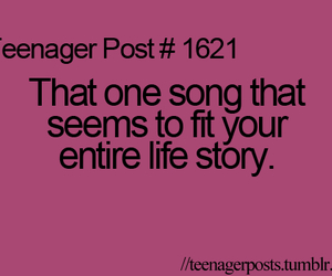 teenager posts, quote, and song image
