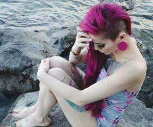 tattoo, piercing, and hair image