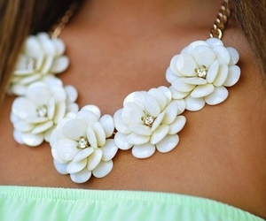 cool, necklace, and white image