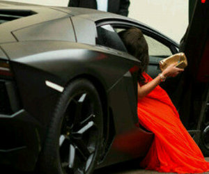 black, dress, and car image