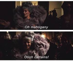 catching fire, effie trinket, and curtains image