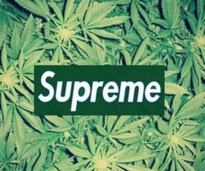 supreme, weed, and smoke image