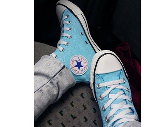 blue, converse, and photography image