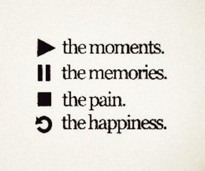 happiness, memories, and pain image