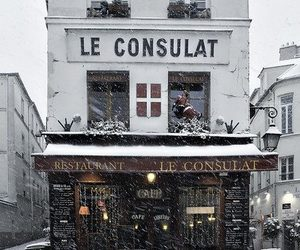 winter, snow, and france image