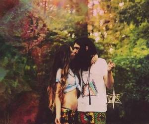 love, hippie, and kiss image