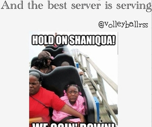 funny and volleyball image