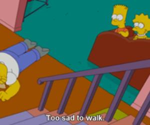 sad, simpsons, and homer image