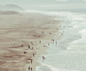beach, sea, and people image