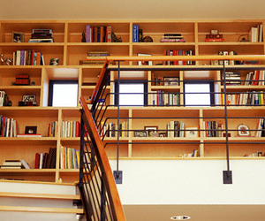 book, ladder, and room image