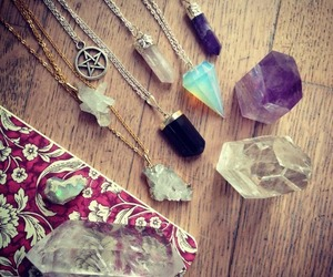 crystal, necklace, and stone image