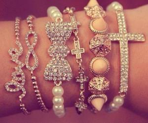bracelet, infinity, and cross image