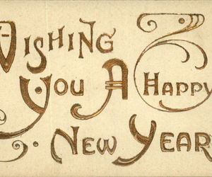 new year, text, and vintage image