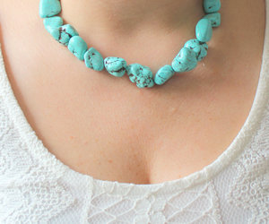 bohemian, turquoise, and blue gypsy image