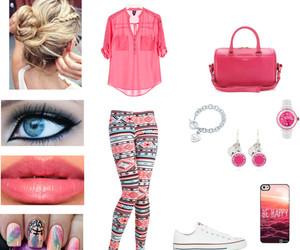 bun, pink, and clothes image