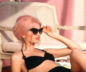 bikini, black, and hair image