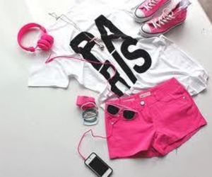 bracelets, shirt, and shoes image