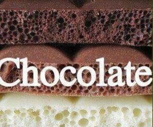 chocolate, white, and black image