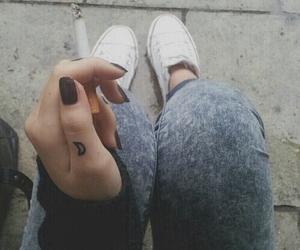 smoke, cigarette, and tattoo image