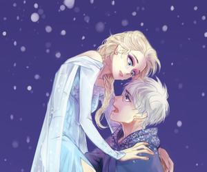elsa, jack frost, and jelsa image