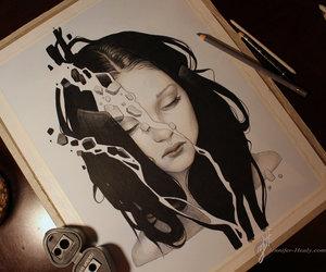 drawing, art, and broken image
