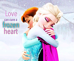 frozen, heart, and love image