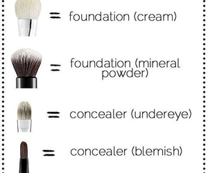 Brushes, lady, and makeup image