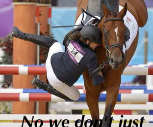 equestrian, falling, and horse image