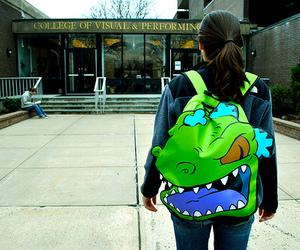 backpack, dragon, and girl image