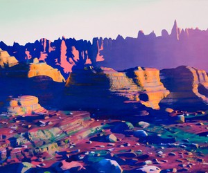 art, mountains, and colorful image