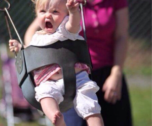 funny, baby, and swing image