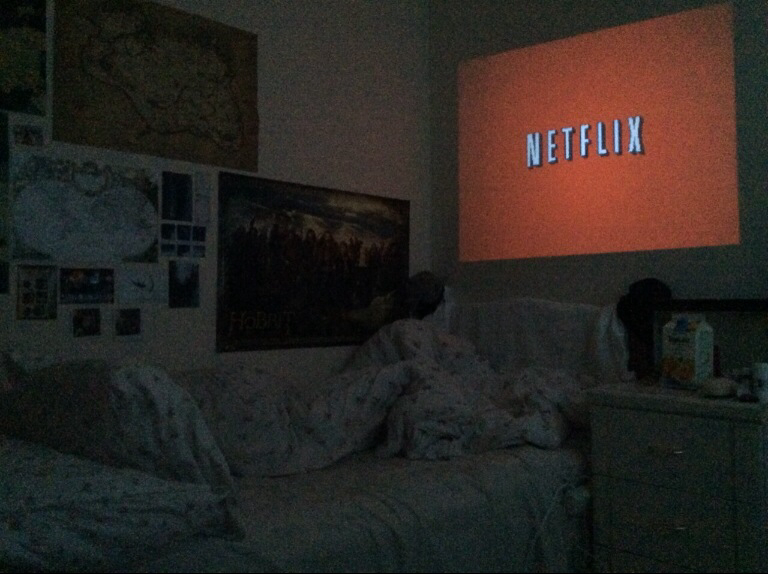 netflix, room, and bed image