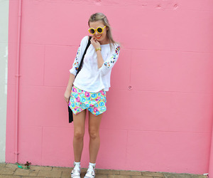pink, indie, and outfit image