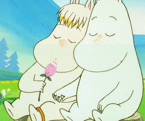 love, flower, and moomins image