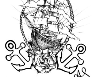 anchor, cloud, and design image