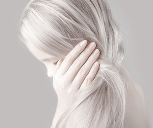 white, girl, and hair image
