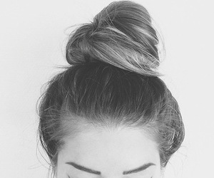 girl, hair, and bun image