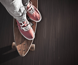 vans, skate, and longboard image